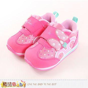 魔法Baby 兒童運動鞋 迪士尼米妮正版運動鞋~sh9984