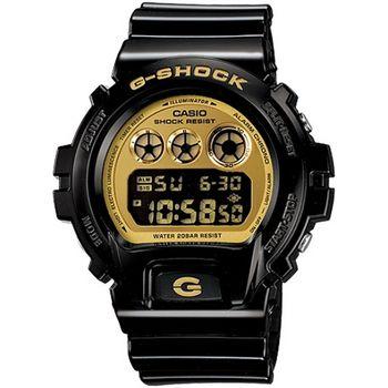 G-SHOCK 奢華搖滾元素-黑X金_DW-6900CB-1D
