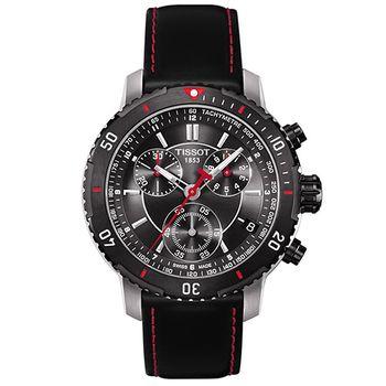 TISSOT PRS 200 競賽傳奇計時腕錶-黑/42mm T0674172605100