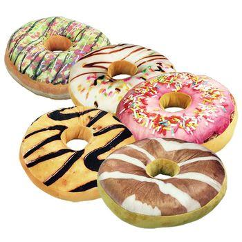 【莫菲思】佳可-甜甜圈造型坐墊/抱枕(隨機)2入