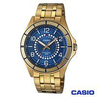 CASIO卡西歐 獨特日期 金系型男腕錶 ^#45 金藍 MTF ^#45 118G ^#