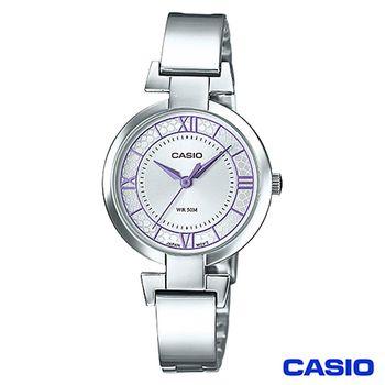 CASIO卡西歐 簡約色彩羅馬時刻女錶(LTP-E403D-6A)