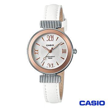 CASIO卡西歐 輕巧時尚皮革女錶(LTP-E405L-7A)