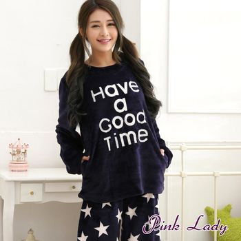 【PINK LADY】晨星入夢~保暖法蘭絨成套睡衣褲269(深藍)