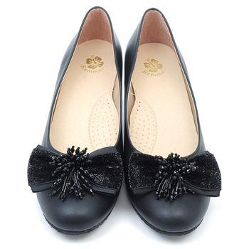【 101大尺碼女鞋】MIT金蔥流蘇氣質高跟鞋-大尺碼系列-黑色MTON-GGG