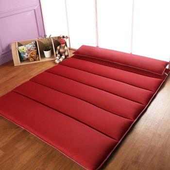 【HomeBeauty】恆溫多功能小樽日式床墊特大7尺-紅色