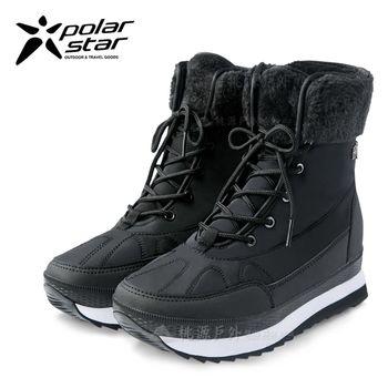 PolarStar 女 保暖雪鞋│雪靴│冰爪『爵士黑』 P16632