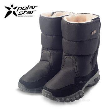 PolarStar 男 防潑水 保暖雪鞋│雪靴『黑』 P16651