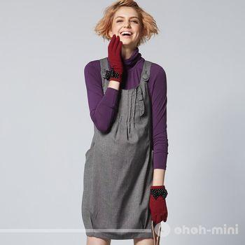 【ohoh-mini孕婦裝】英式吊帶花苞裙孕婦背心洋裝