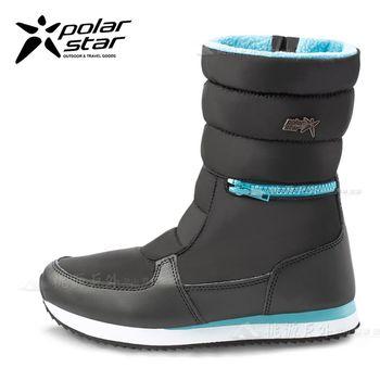 PolarStar 女 防潑水 保暖雪鞋│雪靴『迷霧黑』 P16654