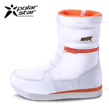 PolarStar 女 防潑水 保暖雪鞋│雪靴『煙雪白』 P16654