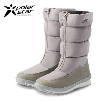 PolarStar 女 防潑水 保暖雪鞋│雪靴『冰灰』P16662
