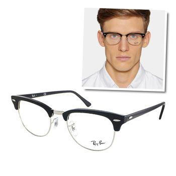 【Ray Ban 雷朋】RB5154-2000 潮流眉框款光學眼鏡 (黑色半框)