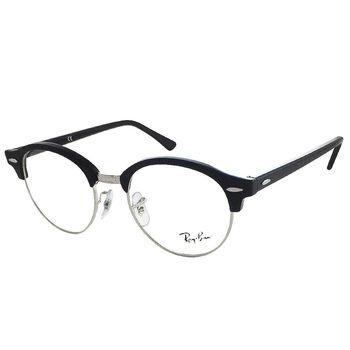 【Ray Ban 雷朋】RB4246V-2000 復古圓框款光學眼鏡 (黑色半框)