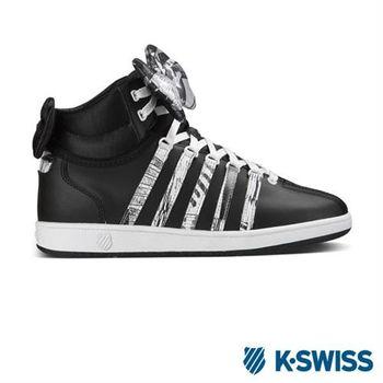 K-Swiss Classic VN Mid經典休閒鞋-大童-黑/白