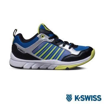 K-Swiss X Trainer 運動鞋-藍/螢光綠/黑