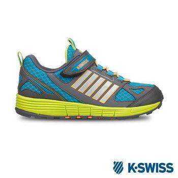 K-Swiss BANF 05休閒運動鞋-童-灰/湖水綠/螢光綠