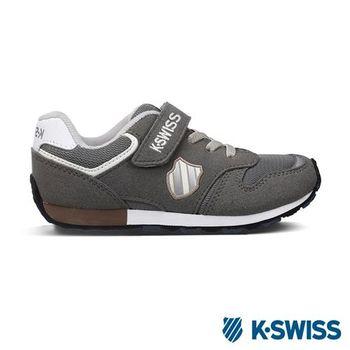 K-Swiss KS CHK 118復刻休閒鞋-童-灰