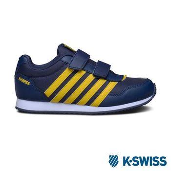K-Swiss New Haven Strap復古休閒鞋-童-海軍藍/黃