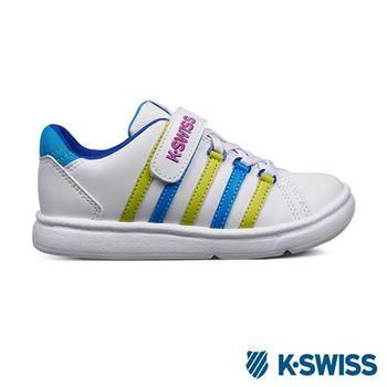 K-Swiss KS CHK 116復刻休閒鞋-童-白/藍/螢光綠