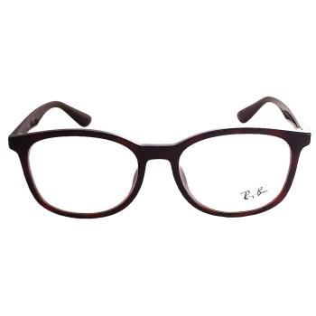 【Ray Ban 雷朋】RB7093D-5626 質感百搭光學眼鏡(暗紅色框)