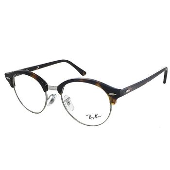 【Ray Ban 雷朋】RB4246V-2012 復古圓框款光學眼鏡 (琥珀半框)
