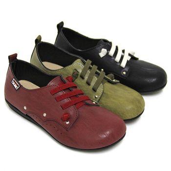 【Pretty】熱銷款雙色渲染彈性鬆緊帶休閒鞋-紅色、綠色、黑色