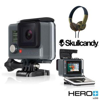 GoPro HERO+LCD 進階螢幕版+Skullcandy耳機豪華自拍組(公司貨)