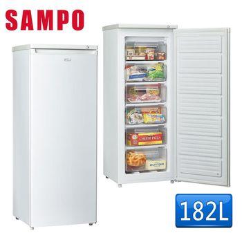送八件式餐具組【SAMPO聲寶】182L直立式冷棟櫃SRF-180S(含拆箱定位)