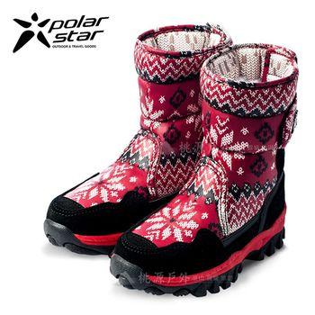 PolarStar 兒童 保暖雪鞋│雪靴│冰爪『星光紅』 P16631