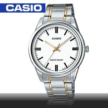 【CASIO 卡西歐】型男必備_不鏽鋼錶帶_日期顯示_生活防水_礦物玻璃_男錶(MTP-V005SG)