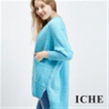 【ICHE 衣哲】羊毛開襟針織罩衫外套