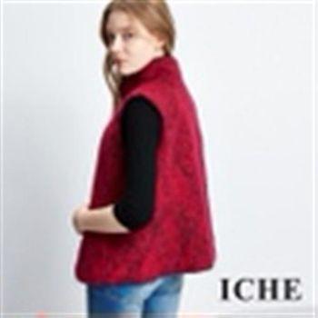 【ICHE 衣哲】羊毛高領開襟罩衫背心
