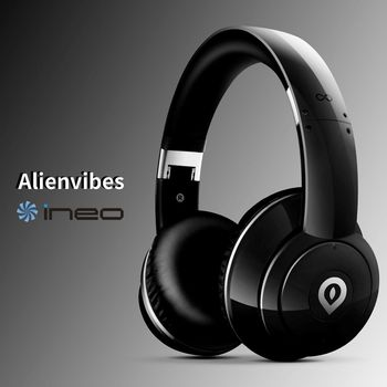 ineo alienvibes 主動式抗噪 可折疊 耳罩式耳機 頭戴式耳機(黑色)