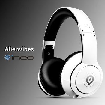 ineo alienvibes 主動式抗噪 可折疊 耳罩式耳機 頭戴式耳機(白色)