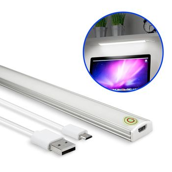 USB 觸控開關式 超薄型LED可調光鋁合金燈管