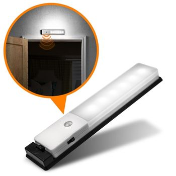USB充電式 智能LED薄型人體感應照明燈