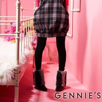 【Gennie's奇妮】可調式厚棉踩腳褲(HM47)