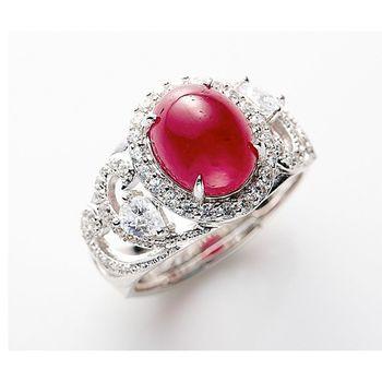美玥珠寶 天然3克拉無燒紅寶石戒指