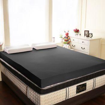 【契斯特】恆溫絲12公分釋壓記憶床墊-雙人5尺-夜幕黑