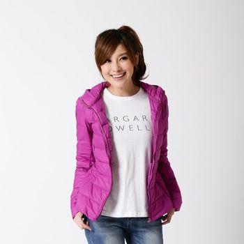 超值2件【T.B】活力女孩增絨超暖輕量羽絨連帽外套 -紫色+1色任選(秋香綠、水藍、墨綠、紅色)