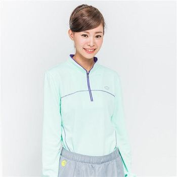 【TOP GIRL】運動立領長袖上衣-淺綠