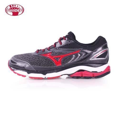 【MIZUNO】WAVE INSPIRE 13 男慢跑鞋-2E-寬楦 美津濃 黑紅
