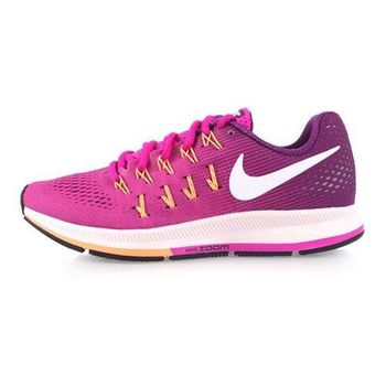 【NIKE】WMNS AIR ZOOM PEGASUS 33女慢跑鞋-夜跑 紫橘白