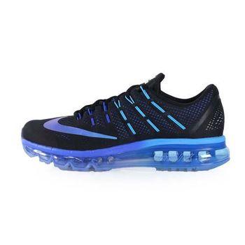 【NIKE】AIR MAX 2016 男氣墊慢跑鞋-路跑 黑藍