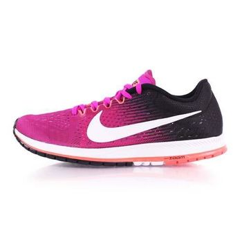 【NIKE】ZOOM STREAK 6 男女路跑鞋-慢跑 訓練 紫橘黑