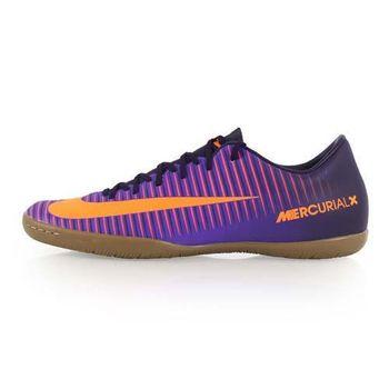 【NIKE】MERCURIALX VICTORY VI IC 男室內足球鞋 紫橘