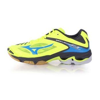 【MIZUNO】WAVE LIGHTNING Z3 男排球鞋-美津濃 螢光黃藍