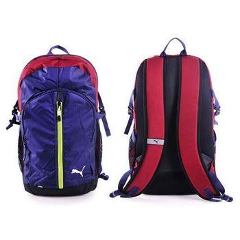 【PUMA】APEX後背包-25L 雙肩包 肩背包 旅行 登山 16吋筆電 深藍紅