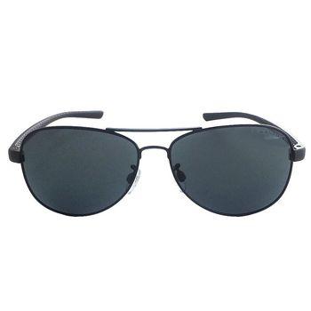 【New Balance】雷朋型偏光運動太陽眼鏡-黑框/灰鏡面(NB1051-2P)